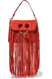 Pierce medium fringed suede shoulder bag