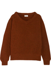 Oversized ribbed wool sweater