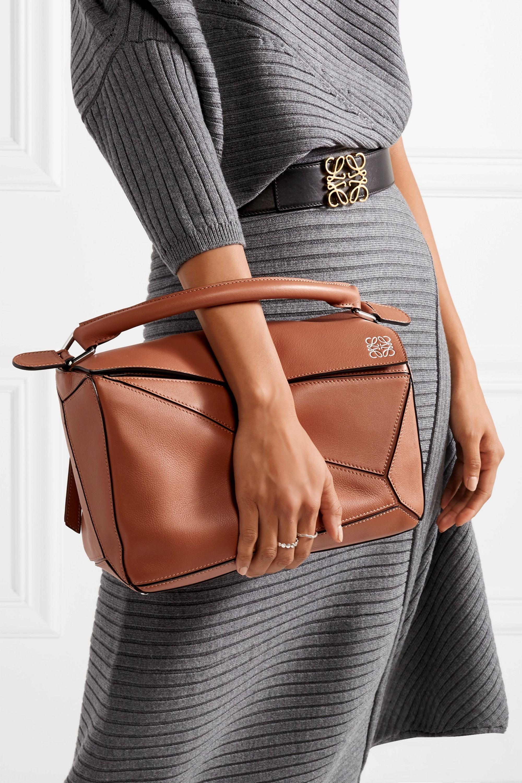 Loewe Puzzle textured-leather shoulder bag