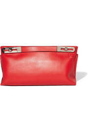 Missy large leather clutch