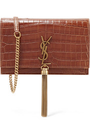 Monogramme Kate small croc-effect leather shoulder bag
