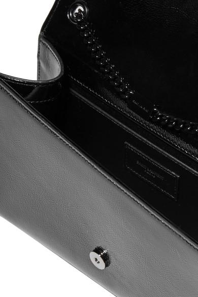 Saint Laurent Kate Schultertasche aus strukturiertem Lackleder