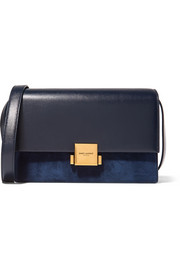Saint Laurent Bellechasse leather and suede shoulder bag