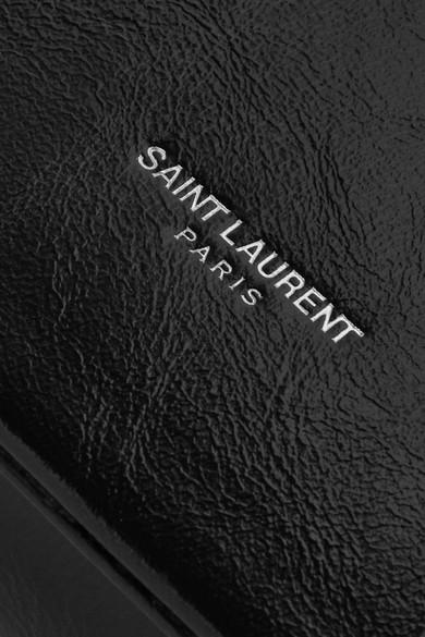 Saint Laurent Fétiche Clutch aus strukturiertem Glanzleder