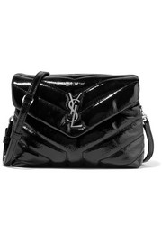 Saint Laurent Loulou small quilted patent-leather shoulder bag