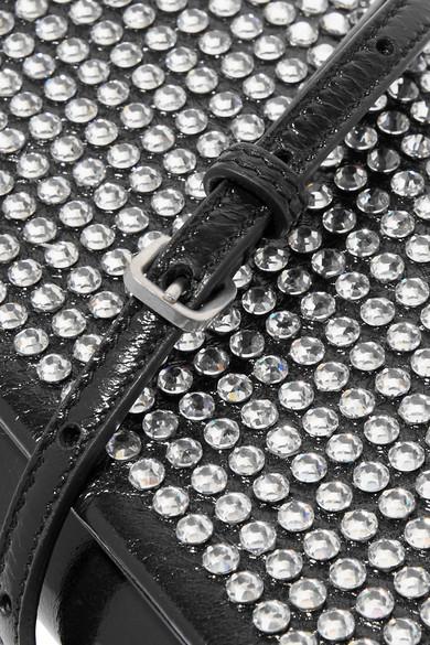Fetiche Clutch Saint Laurent Kristallverzierungen Saint Glanzleder mit Laurent aus qwPtTUx6S