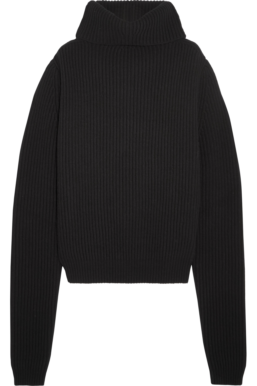 Haider Ackermann Oversized ribbed wool turtleneck sweater