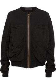 Haider Ackermann Cotton-jersey and twill bomber jacket