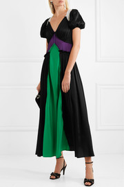 Carlotta color-block satin maxi dress