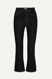 Attico Blanca cropped high-rise flared jeans