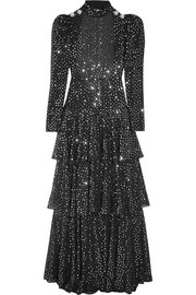 Alessandra Rich Open-back sequined georgette gown