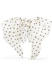 Polka-dot silk crepe de chine hairclip