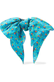 Alessandra Rich Floral-print silk crepe de chine hairclip