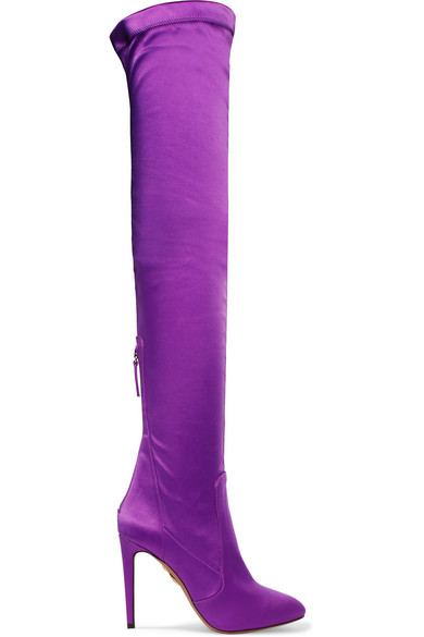 All I Need stretch-satin over-the-knee boots