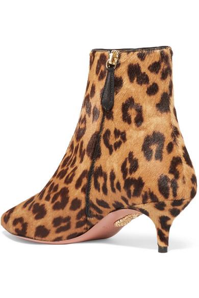 ddf2cd708432 Aquazzura | Quant leopard-print calf hair ankle boots | NET-A-PORTER.COM