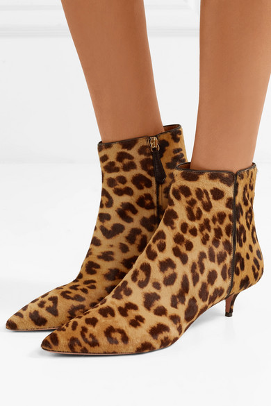 Aquazzura Quant Leopard Booties 688KPn