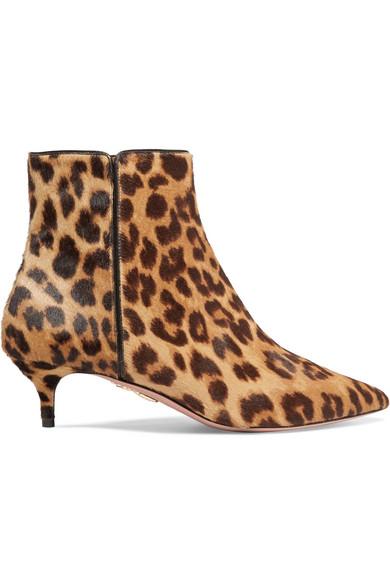 Aquazzura - Quant Leopard-print Calf Hair Ankle Boots - Leopard print
