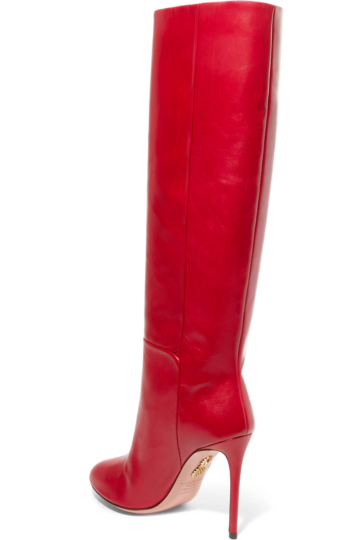 Aquazzura Brera leather knee boots