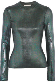 Christopher Kane Iridescent ribbed-knit sweater