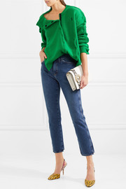 Christopher Kane Velcro-trimmed wool sweater