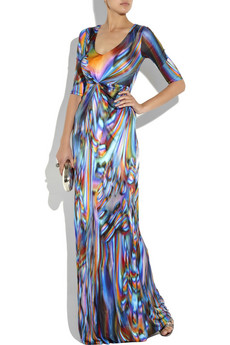 Matthew%20Williamson Satin-jersey%20draped%20gown