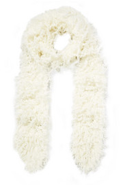 Faux shearling scarf