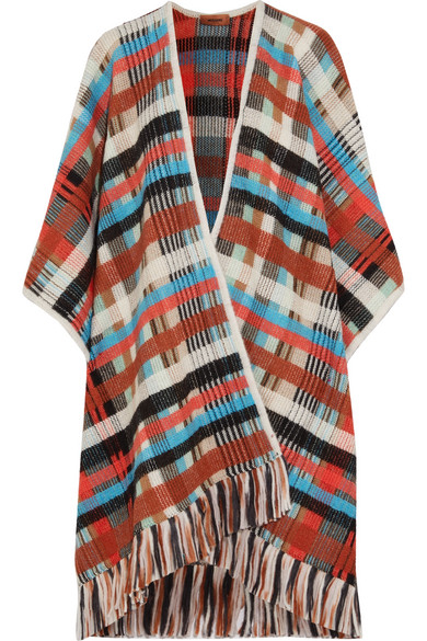 Missoni - Checked Knitted Wrap - Ivory
