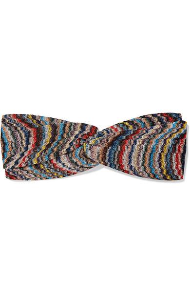 Missoni - Twist-front Crochet-knit Headband - Blue