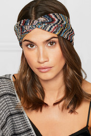 Missoni Twist-front crochet-knit headband