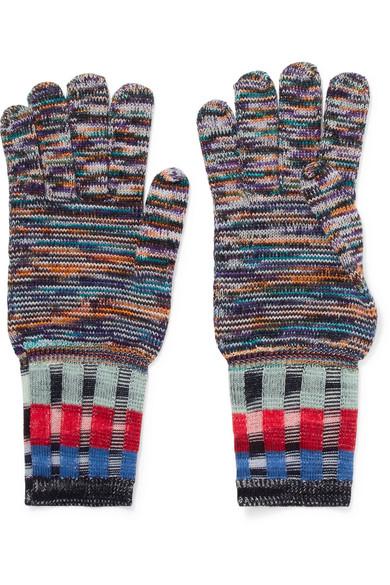 Missoni - Wool-blend Gloves - Indigo