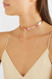 Eddie Borgo Safety Chain rose gold-plated choker