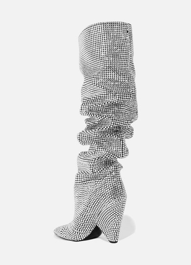 Saint Laurent Niki Swarovski Crystal Embellished Leather