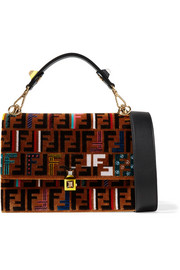 Fendi Kan I velvet shoulder bag