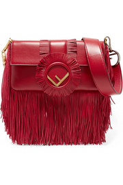 Baguette fringed leather shoulder bag