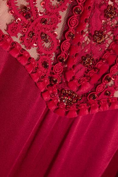 Jenny Packham Bestickte Robe aus Tüll und Satin