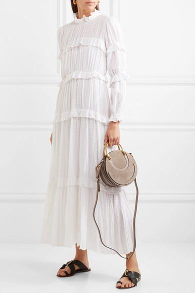 76e8bd5f81 Chloé | Pixie suede and textured-leather shoulder bag | NET-A-PORTER.COM