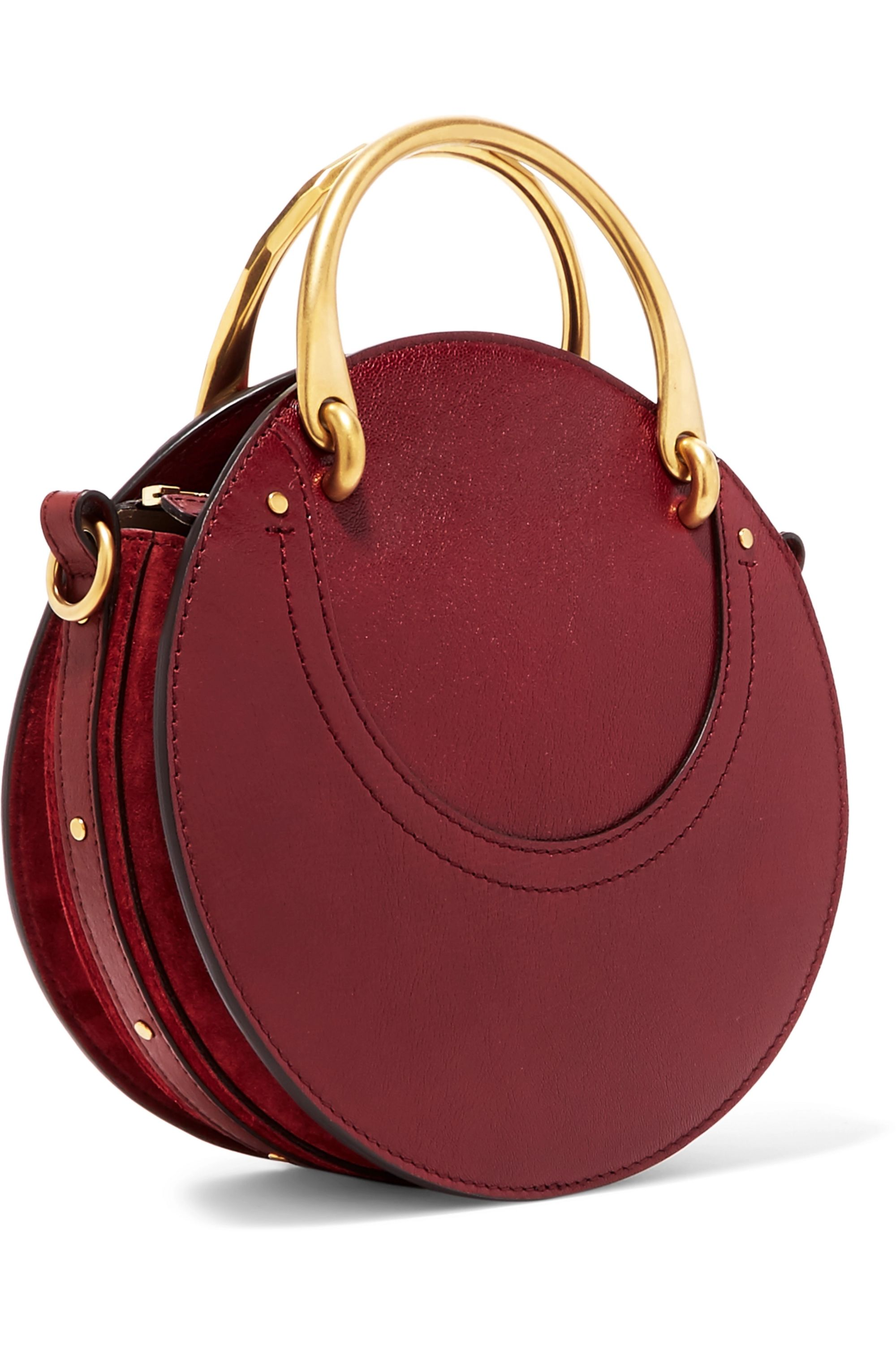 Chloé Pixie textured-leather and suede shoulder bag