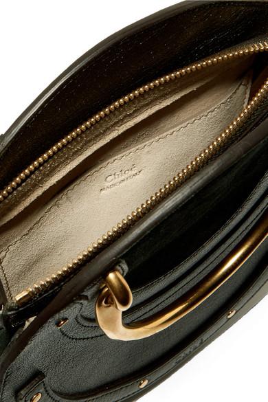 Chloé Pixie Schultertasche aus Veloursleder und strukturiertem Leder