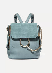 Chloé Faye small leather and suede backpack