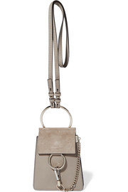 Faye Bracelet mini leather and suede shoulder bag