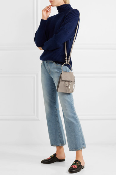 Chlo 233 Faye Bracelet Mini Leather And Suede Shoulder Bag