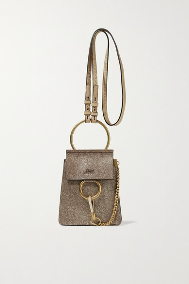 2a5db16a70 Faye Bracelet mini metallic cracked-leather shoulder bag