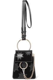 Faye Bracelet mini flocked leather shoulder bag