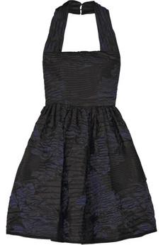 Oscar de la RentaSilk-blend matelasse dress