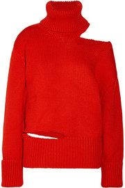Monse Cutout wool turtleneck sweater