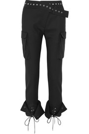 Monse Eyelet-embellished wool-blend skinny pants