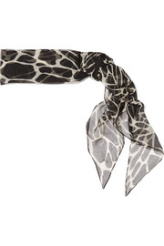 Saint Laurent Printed silk-muslin scarf