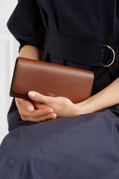 Mulberry Portemonnaie im europäischen Stil aus strukturiertem Leder