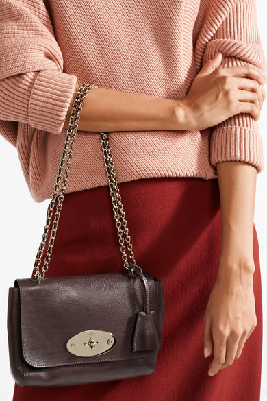 Mulberry Lily Small Shoulder Bag Made Of Textured Leather