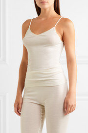Merino wool and silk-blend camisole
